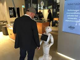 Robot care customers visit's.