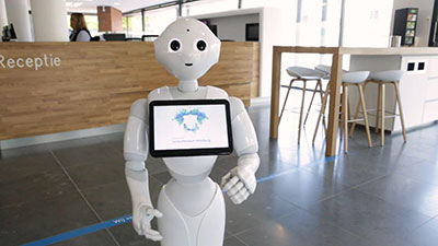 First city hall in the Benelux using robot to provide improved customer service